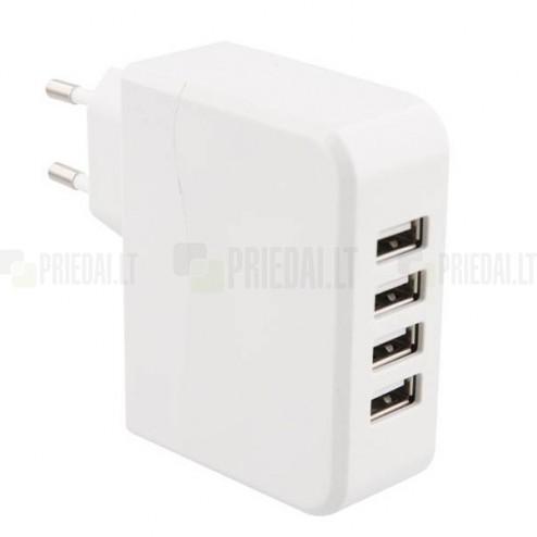 """""""T'nB"""" tīkla lādētājs ar četrām USB ligzdām"""