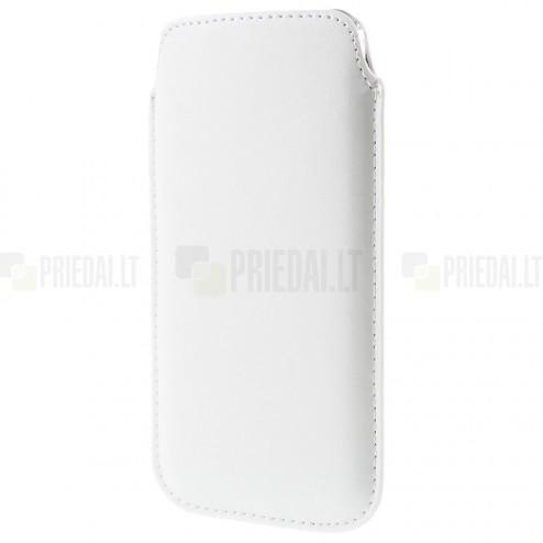 Universāla balta ieliktņa ādas - futrālis (XL izmērs)