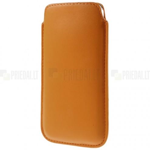 Universāla oranža ieliktņa ādas - futrālis (XL izmērs)