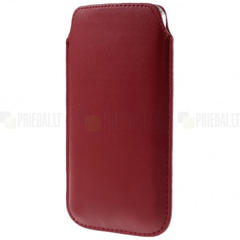 Universāla sarkana ieliktņa ādas - futrālis (XL izmērs)