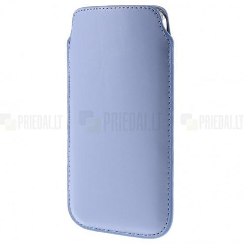 Universāla gaiši violeta ieliktņa ādas - futrālis (XL izmērs)