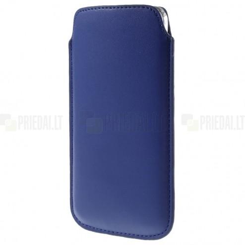 Universāla tumši zila ieliktņa ādas - futrālis (XL izmērs)