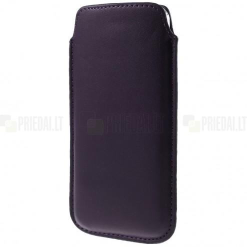 Universāla tumši violeta ieliktņa ādas - futrālis (XL izmērs)