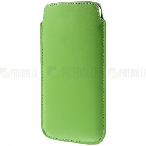 Universāla gaiši zaļa ieliktņa ādas - futrālis (XL izmērs)