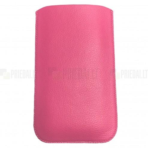 Universāla roza ieliktņa ādas - futrālis (XL izmērs)