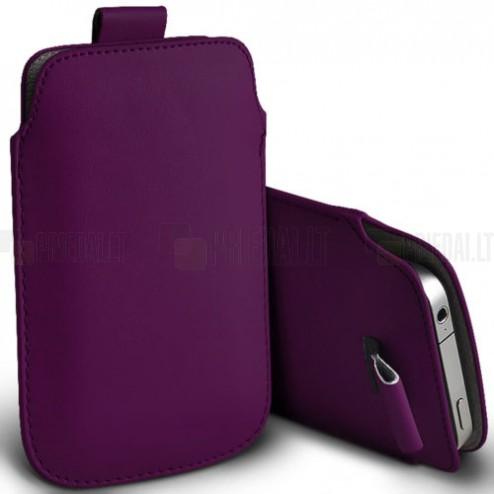 Universāla violeta ieliktņa ādas - futrālis (L izmērs)