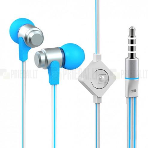 """""""Wallytech"""" ausīs ieliekamās zilā austiņas (baltā)"""