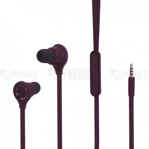 """""""Wallytech"""" ausīs ieliekamās violetā austiņas"""