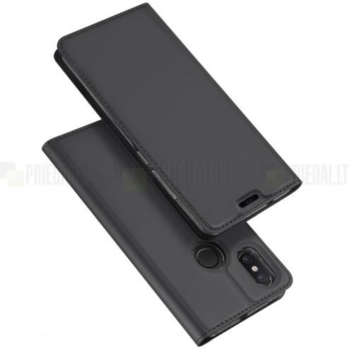"""Xiaomi Mi 8 """"Dux Ducis"""" Skin sērijas melns ādas atvērams maciņš"""
