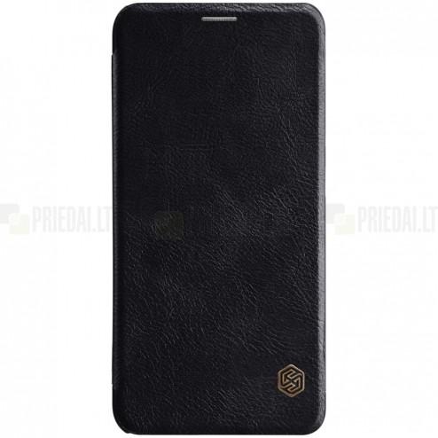 """Greznais """"Nillkin"""" Qin sērijas ādas atvērams melns Xiaomi Mi 8 maciņš"""