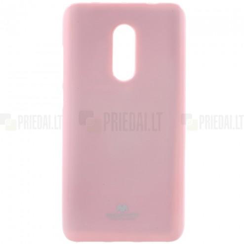 Xiaomi Redmi Note 4X Mercury gaiši rozs cieta silikona (TPU) apvalks