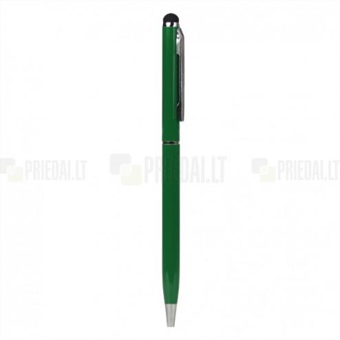 Zaļš tausts ar instalēto rakstamo (ang. Stylus Pen)