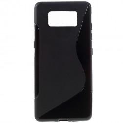 Cieta silikona (TPU) apvalks - melns (Galaxy S8+)