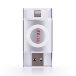 """iDiskk"" Lightning USB 3.0 Flash Drive atmiņa - sudraba (128 Gb)"