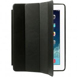 Klasisks atvēramais futrālis - melns (iPad 2 / 3 / 4)