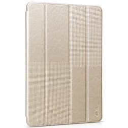 """""""HOCO"""" Crystal Fashion atvēramais ādas futrālis - zelta (iPad Air 2)"""