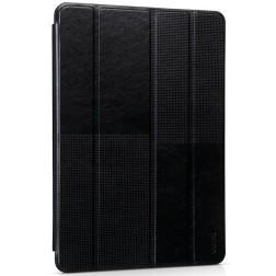 """HOCO"" Crystal Fashion atvēramais ādas futrālis - melns (iPad Air 2)"
