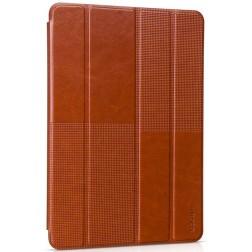 """""""HOCO"""" Crystal Fashion atvēramais ādas futrālis - brūns (iPad Air 2)"""