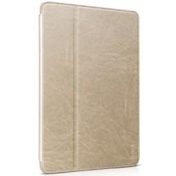 """HOCO"" Retro atvēramais futrālis - zelta (iPad Air 2)"