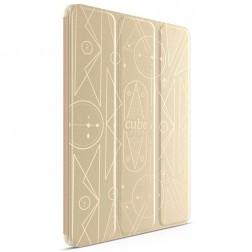 """""""HOCO"""" Crystal Cube atvēramais futrālis - zelta (iPad Air 2)"""
