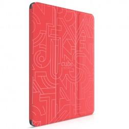 """HOCO"" Crystal Cube atvēramais futrālis - sarkans (iPad Air 2)"