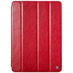 """""""HOCO"""" Crystal atvēramais ādas futrālis - sarkans (iPad Air)"""