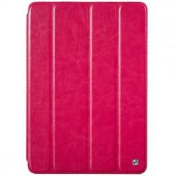 """""""HOCO"""" Crystal atvēramais ādas futrālis - rozs (iPad Air)"""