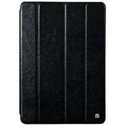 """""""HOCO"""" Crystal atvēramais ādas futrālis - melns (iPad Air)"""