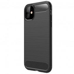 """Carbon"" cieta silikona (TPU) apvalks - melns (iPhone 11)"