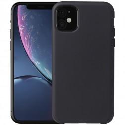 Cieta silikona (TPU) apvalks - melns (iPhone 11)