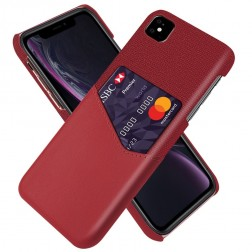 """""""KSQ"""" Shell ādas apvalks - sarkans (iPhone 11)"""