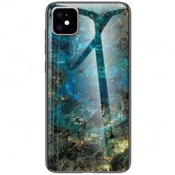 """Marble"" cieta silikona (TPU) apvalks - zils (iPhone 11)"