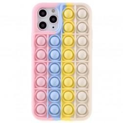 """Popit"" Bubble mīksta silikona (TPU) apvalks - rozs (iPhone 11 Pro)"