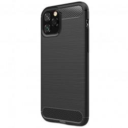 """Carbon"" cieta silikona (TPU) apvalks - melns (iPhone 11 Pro)"