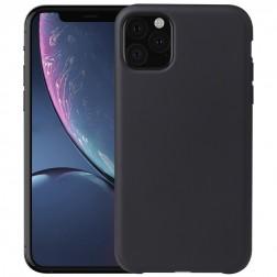 Cieta silikona (TPU) apvalks - melns (iPhone 11 Pro)