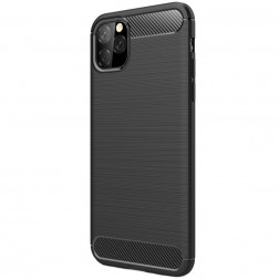 """Carbon"" cieta silikona (TPU) apvalks - melns (iPhone 11 Pro Max)"