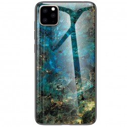 """Marble"" cieta silikona (TPU) apvalks - zils (iPhone 11 Pro Max)"