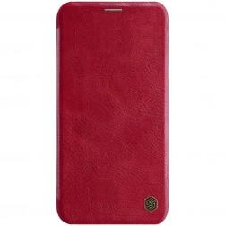 """""""Nillkin"""" Qin atvēramais maciņš - sarkans (iPhone 11 Pro Max)"""
