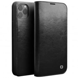 """""""QIALINO"""" atvēramais ādas maciņš - melns (iPhone 11 Pro Max)"""