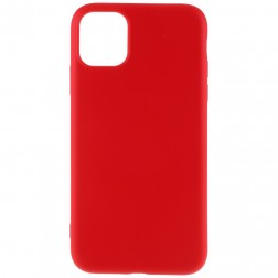 """Shell"" cieta silikona (TPU) apvalks - sarkans (iPhone 11 Pro Max)"