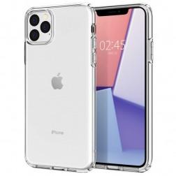 Cieta silikona (TPU) apvalks - dzidrs (iPhone 11 Pro Max)