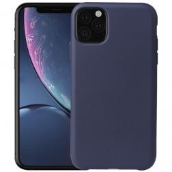 Cieta silikona (TPU) apvalks - zils (iPhone 11 Pro)