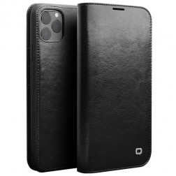 """""""QIALINO"""" atvēramais ādas maciņš - melns (iPhone 11 Pro)"""