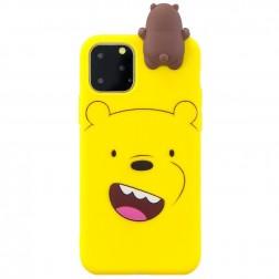 """Squezy"" Bear cieta silikona (TPU) apvalks - dzeltens (iPhone 11 Pro)"