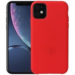 Cieta silikona (TPU) apvalks - sarkans (iPhone 11)