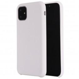 Cieta silikona (TPU) apvalks - balts (iPhone 11)