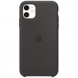 "Oficiāls ""Apple"" Silicone Case apvalks - melns (iPhone 11)"