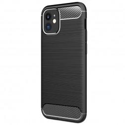"""Carbon"" cieta silikona (TPU) vāciņš - melns (iPhone 12 Mini)"