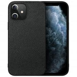 """Deluxe Leather"" ādas apvalks - melns (iPhone 12 Mini)"