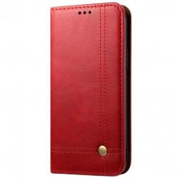 """""""Deluxe"""" atvēramais maciņš - sarkans (iPhone 12 Mini)"""